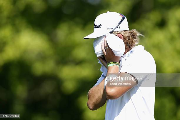 Roger Sloan of Canada walks off the 9th tee box during round one of the FedEx St Jude Classic at TPC Southwind on June 11 2015 in Memphis Tennessee