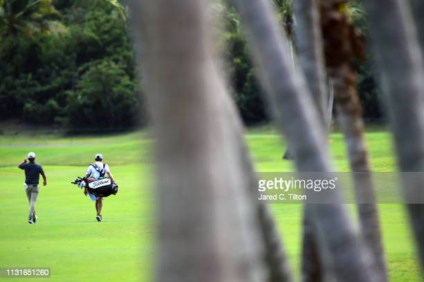 Roger Sloan of Canada walks the second fairway during the third round of the Puerto Rico Open at Coco Beach Golf and Country Club on February 23 2019...