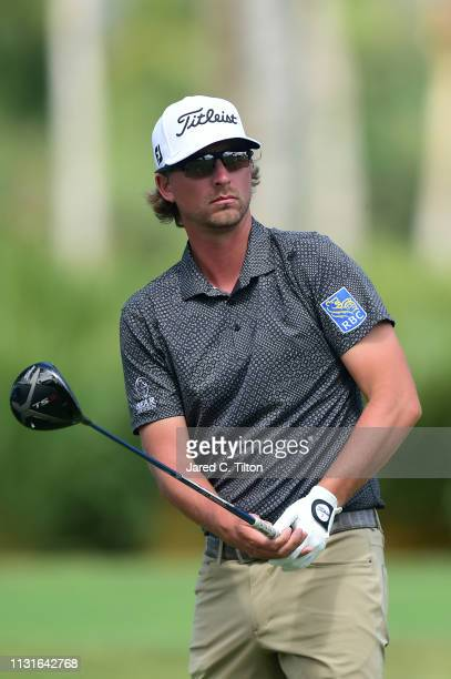 Roger Sloan of Canada watches his shot from the second tee during the third round of the Puerto Rico Open at Coco Beach Golf and Country Club on...