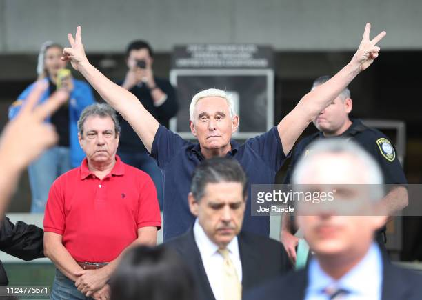 Roger Stone a former advisor to President Donald Trump exits the Federal Courthouse on January 25 2019 in Fort Lauderdale Florida Mr Stone was...