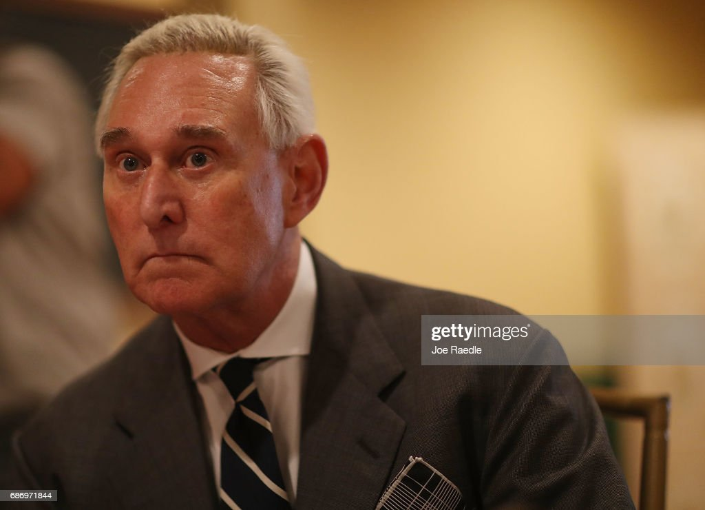 Roger Stone Addresses Women's Republican Club Of Miami : News Photo