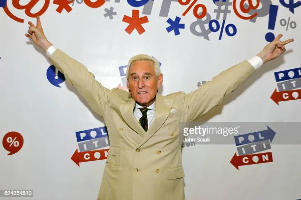 Roger Stone at Politicon at Pasadena Convention Center on July 29 2017 in Pasadena California
