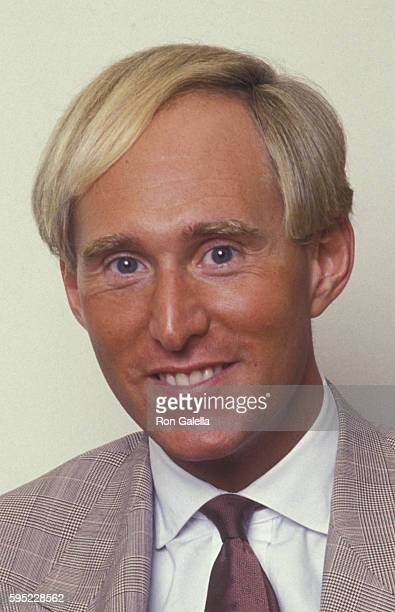 Roger Stone attends Roger Stone Exclusive Photo Session on August 19 1987 at Alan Flusser Boutique in New York City