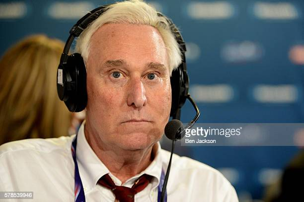 Roger Stone ExDonald Trump Advisor appears on an episode of Alter Family Politics on SiriusXM at Quicken Loans Arena on July 20 2016 in Cleveland Ohio