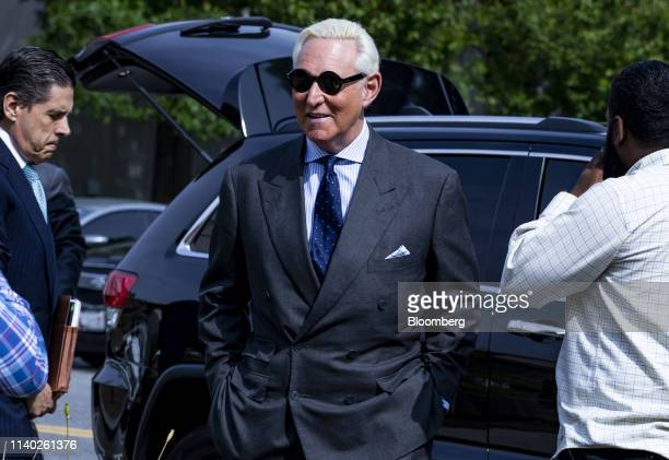 Roger Stone former adviser to Donald Trump's presidential campaign arrives at federal court in Washington DC US on Tuesday April 30 2019 Stone...