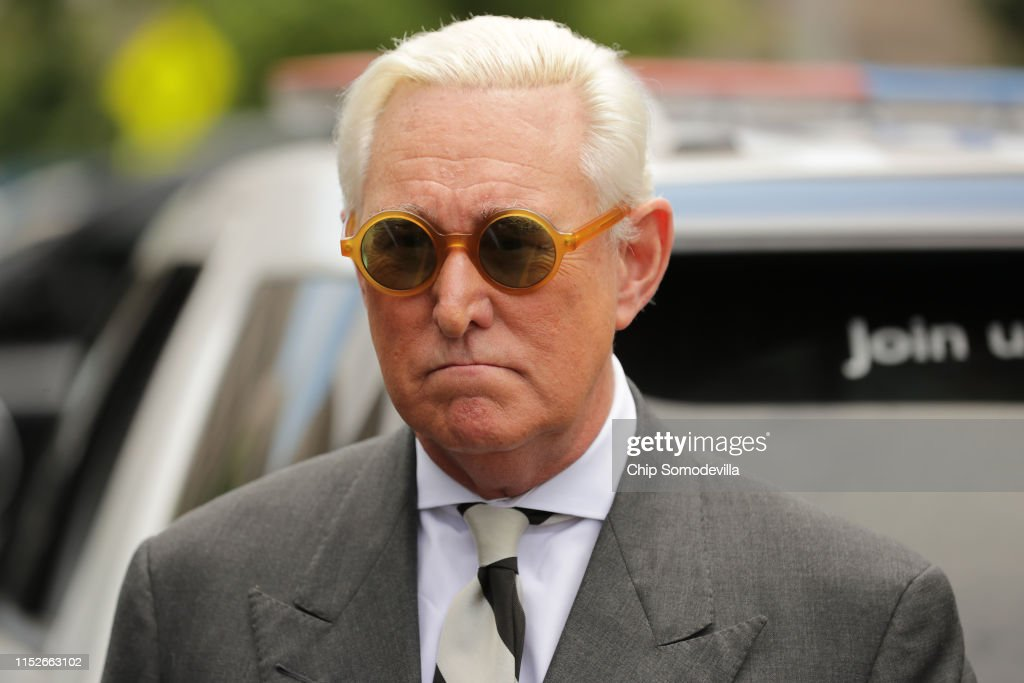 Trump Political Advisor Roger Stone Returns To Court In Effort To Dismiss Charges : News Photo
