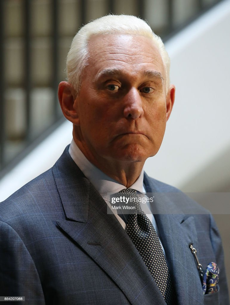 Trump Confidant Roger Stone Testifies Before House Intelligence Committee : News Photo