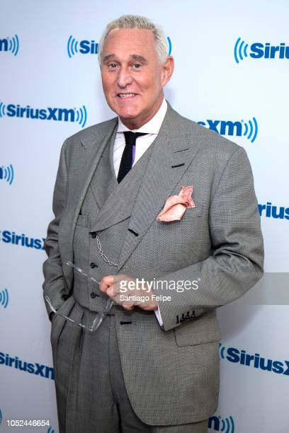 Roger Stone visits SiriusXM Studios on October 18 2018 in New York City
