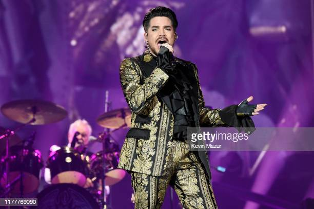 Roger Taylor and Adam Lambert of Queen perform onstage during the 2019 Global Citizen Festival Power The Movement in Central Park on September 28...