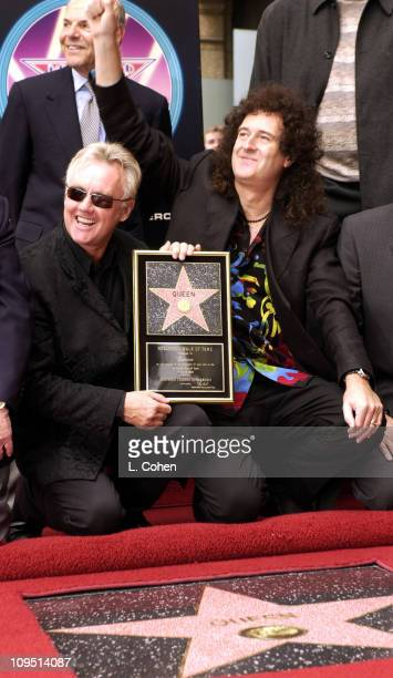 Roger Taylor and Brian May of legendary British rock band Queen receive a star on the Hollywood Walk of Fame They join the Beatles as one of only a...