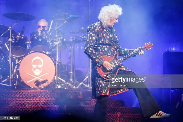 Roger Taylor and Brian May of Queen perform in concert at Palau Sant Jordi on June 10 2018 in Barcelona Spain
