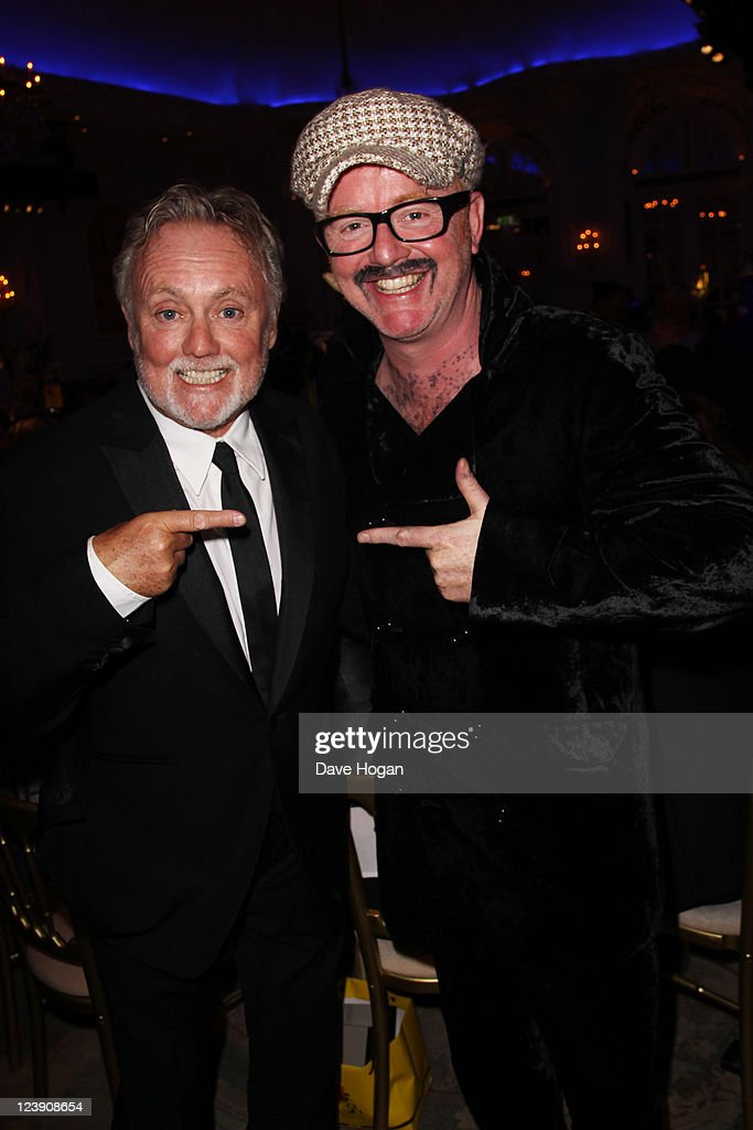 L-R Roger Taylor and Chris Evans attend the Freddie For A Day 65th birthday anniversary party at The Savoy Hotel on September 5, 2011 in London, United Kingdom.