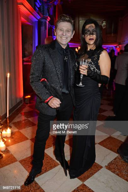 Roger Taylor and Gisella Taylor attend a party to celebrate Nefer Suvio's birthday hosted by The Count and Countess Francesco Chiara Dona Dalle Rose...