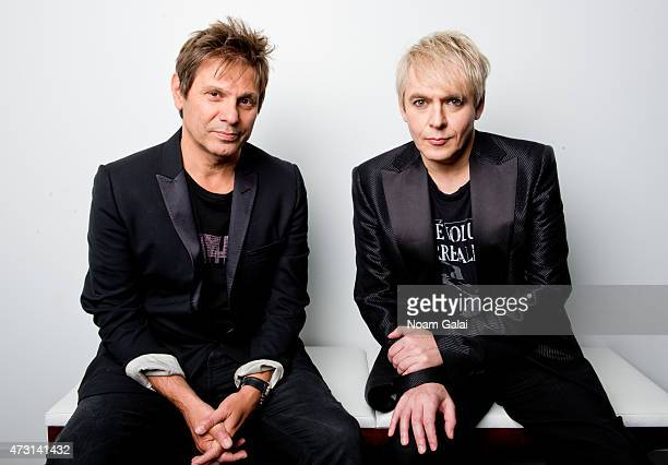 Roger Taylor and Nick Rhodes of Duran Duran pose for a portrait on June 18 2012 in New York City