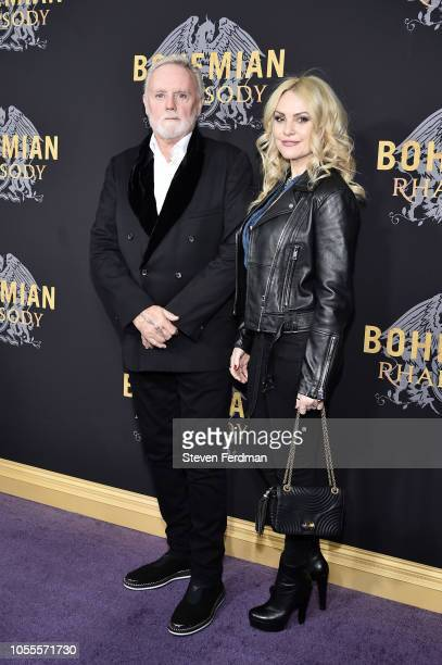 Roger Taylor and Sarina Potgieter attend Bohemian Rhapsody New York Premiere at The Paris Theatre on October 30 2018 in New York City