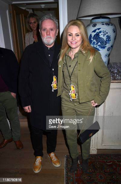 Roger Taylor and Sarina Potgieter attend the after show party following the opening night of Only Fools and Horses The Musical at Theatre Royal...