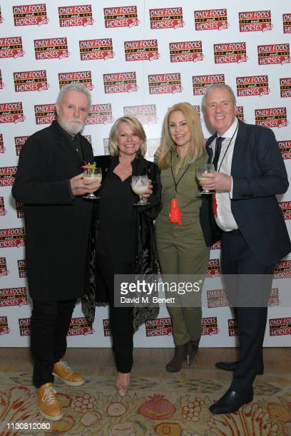 Roger Taylor Caroline Jay Ranger Sarina Potgieter and Phil McIntyre attend the press night after party for Only Fools And Horses The Musical at The...