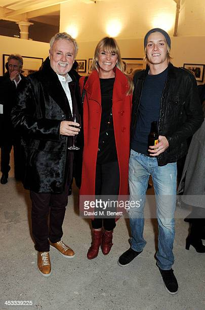 Roger Taylor Deborah Leng and son Rufus Taylor attend a private view of Nikolai Von Bismarck's new photography exhibition 'In Ethiopia' at 12 Francis...