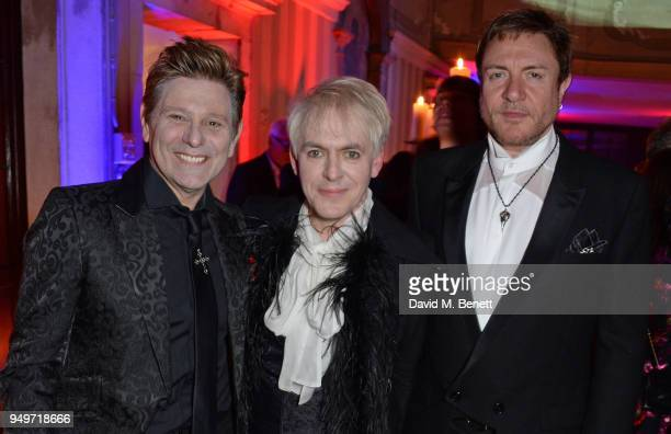 Roger Taylor Nick Rhodes and Simon Le Bon attend a party to celebrate Nefer Suvio's birthday hosted by The Count and Countess Francesco Chiara Dona...