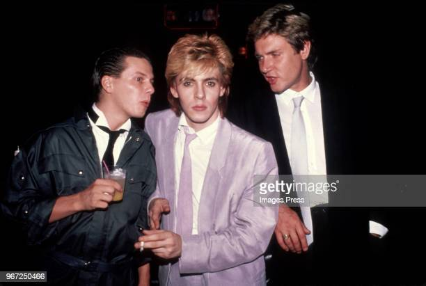 Roger Taylor Nick Rhodes and Simon Le Bon of Duran Duran circa 1983 in New York City