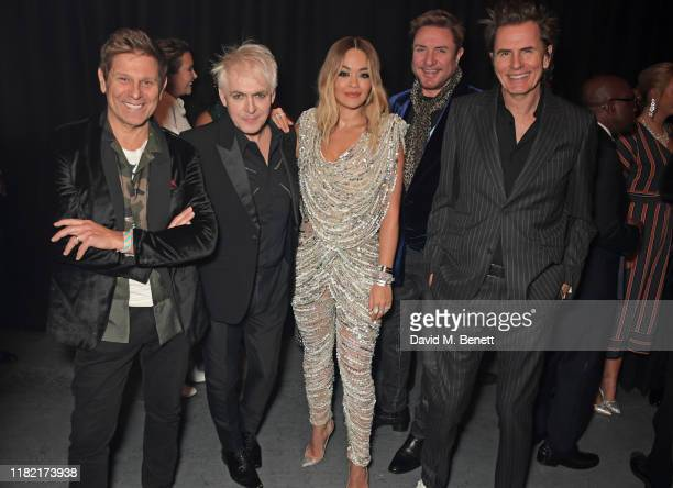 Roger Taylor, Nick Rhodes, Rita Ora, Simon Le Bon and John Taylor join Patron of Centrepoint, HRH The Duke of Cambridge, young people supported by...