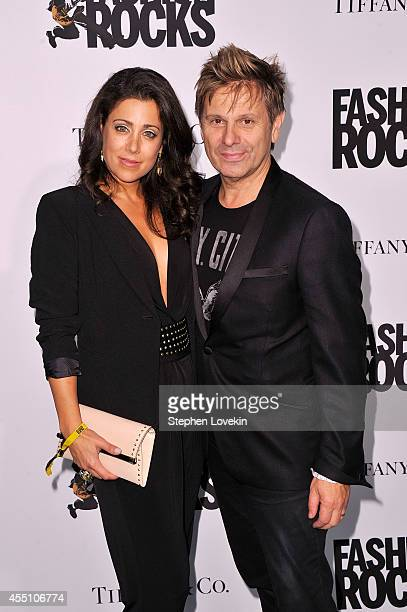 Roger Taylor of Duran Duran and Gisella Bernales attend the Fashion Rocks 2014 After Party at Weylin B Seymour's on September 9 2014 in Brooklyn New...