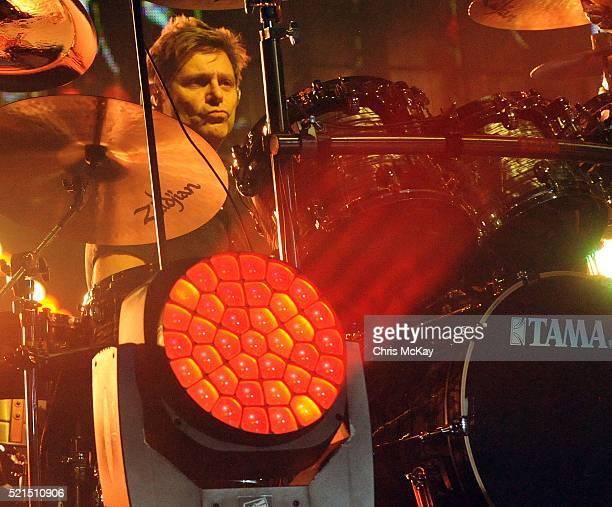 Roger Taylor of Duran Duran performs at Philips Arena on April 15 2016 in Atlanta Georgia