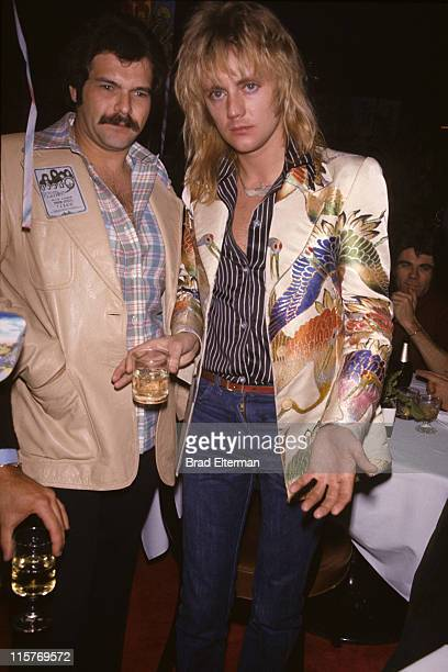 Roger Taylor of Queen and guest at a post-concert party in Las Vegas, Nevada. **EXCLUSIVE**