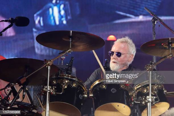 Roger Taylor of Queen performs at Mt Smart Stadium on February 07 2020 in Auckland New Zealand