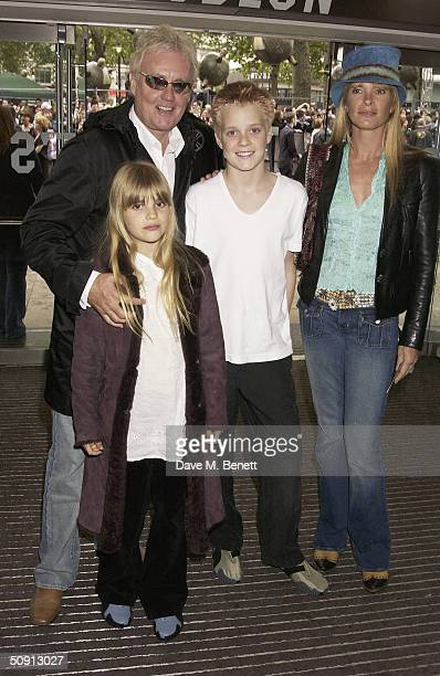 Roger Taylor of Queen wife Deborah Leng and children Tiger Lily Taylor and Rufus Taylor attend the UK Premiere of Harry Potter And The Prisoner Of...