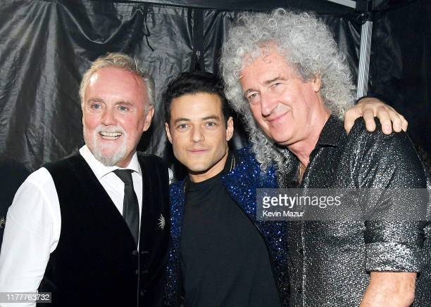 Roger Taylor Rami Malek and Brian May attend the 2019 Global Citizen Festival Power The Movement in Central Park on September 28 2019 in New York City