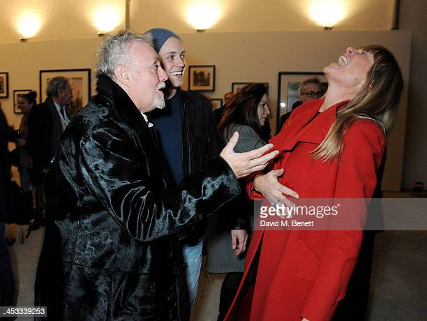 Roger Taylor Rufus Taylor and Deborah Leng attend a private view of Nikolai Von Bismarck's new photography exhibition 'In Ethiopia' at 12 Francis...