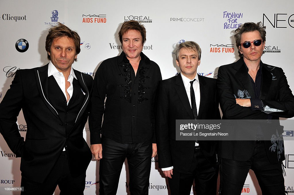 Roger Taylor, Smon Le Bon, Nick Rhodes and John Taylor of Duran Duran arrives at the NEON Charity Gala in aid of the IRIS Foundation at the Capital City on May 24, 2010 in Moscow, Russia.