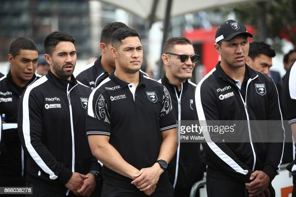Roger TuivasaSheck of the Kiwis looks on during their Rugby League World Cup 2017 Team Welcome at Wynard Quarter on October 25 2017 in Auckland New...