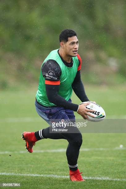 Roger TuivasaSheck of the Warriors during a New Zealand Warriors NRL training session at Mount Smart Stadium on July 10 2018 in Auckland New Zealand