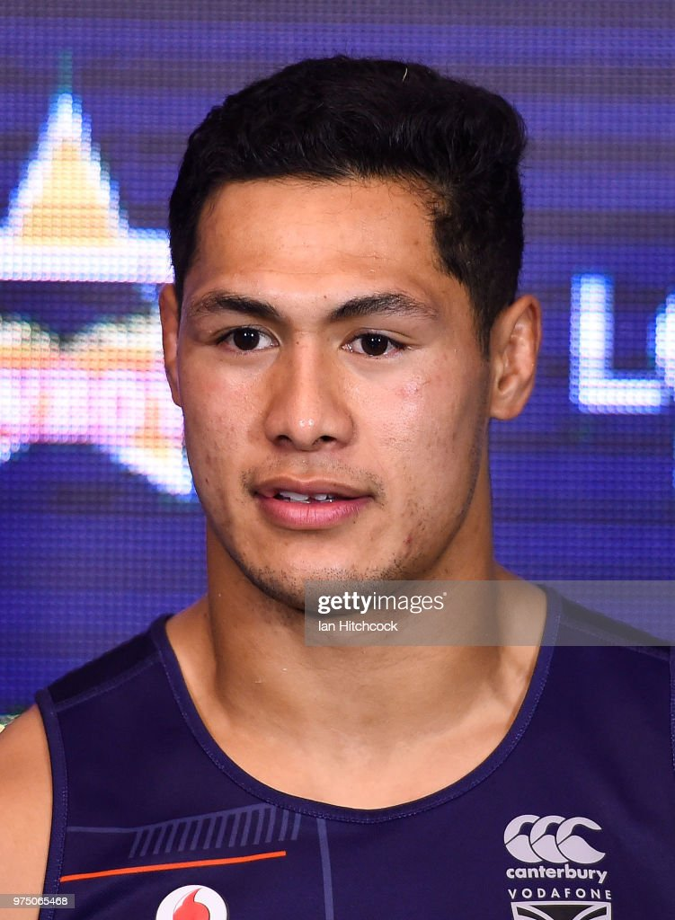 Roger Tuivasa-Sheck of the Warriors looks on at the post match media conference at the end of during the round 15 NRL match between the North Queensland Cowboys and the New Zealand Warriors at 1300SMILES Stadium on June 15, 2018 in Townsville, Australia.