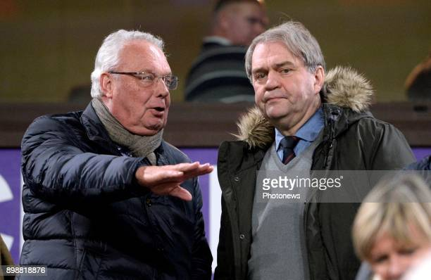 Roger Vanden Stock president of RSC Anderlecht and Pierre Francois CEO Pro League during the Jupiler Pro League match between RSC Anderlecht and KAA...