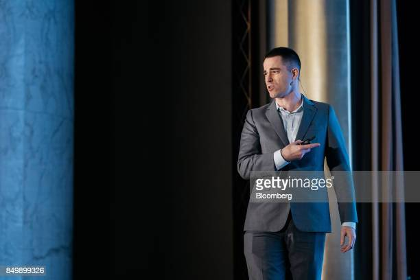 Roger Ver chief executive officer of Bitcoincom speaks at the Shape the Future Blockchain Global Summit in Hong Kong China on Wednesday Sept 20 2017...
