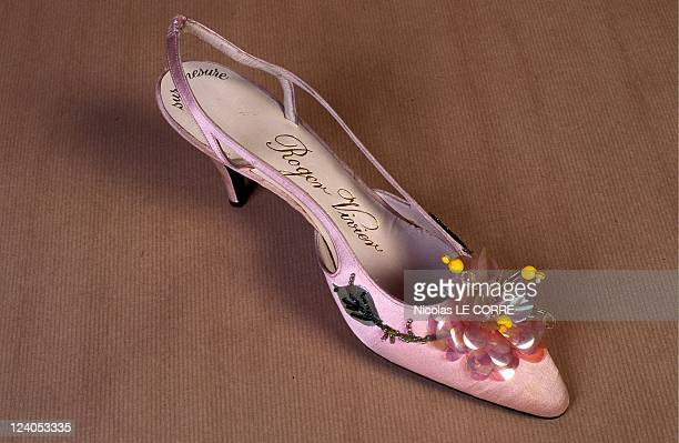 Roger Vivier the Stars Shoemaker In Toulouse France On October 11 1995 Sandale