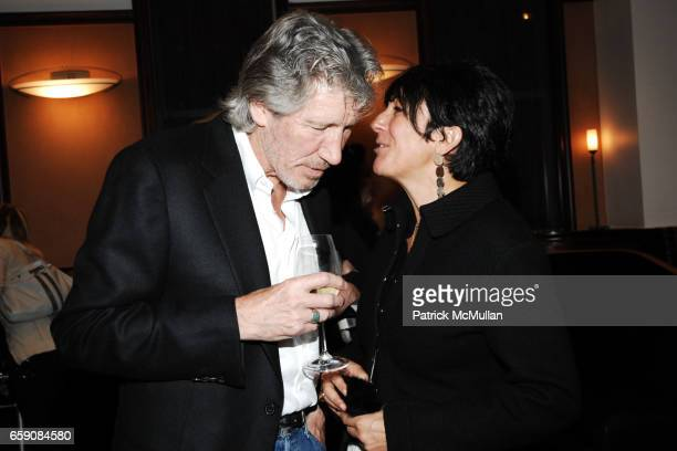 Roger Waters and Ghislaine Maxwell attend Book Party hosted by Anne Hearst McInerney Candace Bushnell Nicole Miller Celebrating HOW IT ENDED by Jay...
