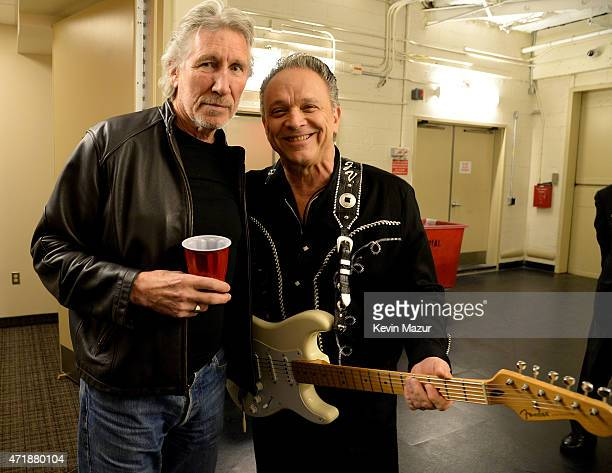 Roger Waters and Jimmie Vaughan attend the Eric Clapton's 70th Birthday Concert Celebration at Madison Square Garden on May 1 2015 in New York City
