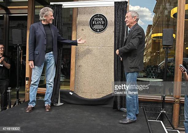 Roger Waters and Nick Mason attend the unveiling of a plaque commemorating Pink Floyd at the University of Westminster formerly Regent Street...
