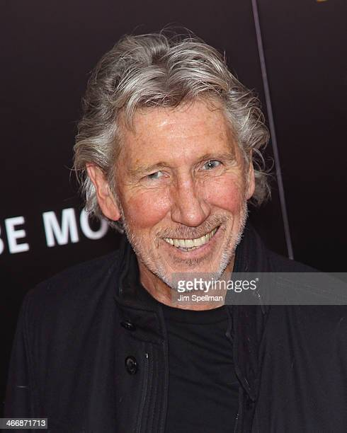 """Roger Waters attends """"The Monuments Men"""" premiere at Ziegfeld Theater on February 4, 2014 in New York City."""