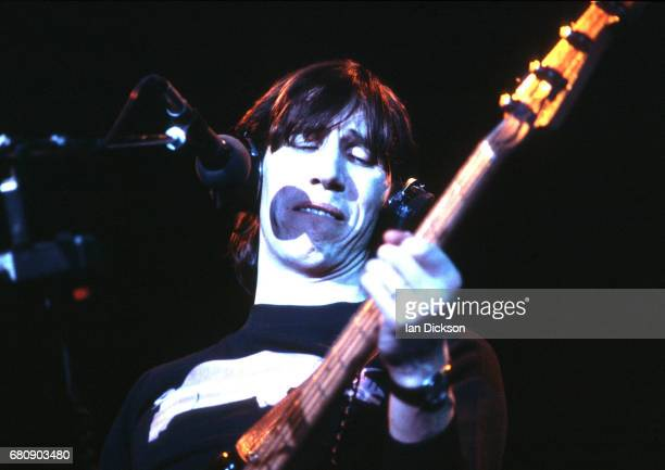 Roger Waters of Pink Floyd performing on stage at Wembley Arena London 16 March 1977