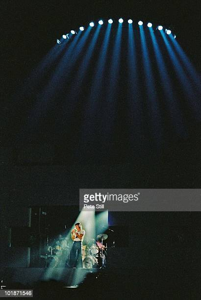 Roger Waters of Pink Floyd performs on stage at Earls Court Arena on 'The Wall' tour on August 7th 1980 in London England