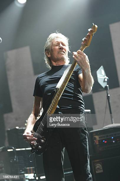 Roger Waters performs at '121212' a concert benefiting The Robin Hood Relief Fund to aid the victims of Hurricane Sandy presented by Clear Channel...
