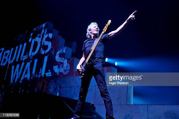 Roger Waters performs at The Wall Live tour concert at Telenor Arena on April 30 2011 in Oslo Norway