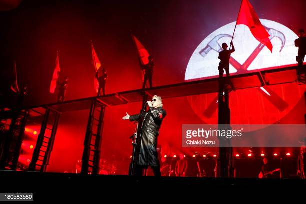 Roger Waters performs at Wembley Stadium on September 14 2013 in London England