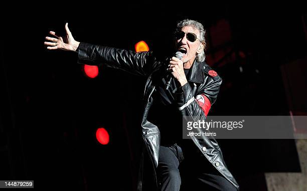 Roger Waters performs during his The Wall Live tour at the Los Angeles Coliseum on May 19 2012 in Los Angeles California