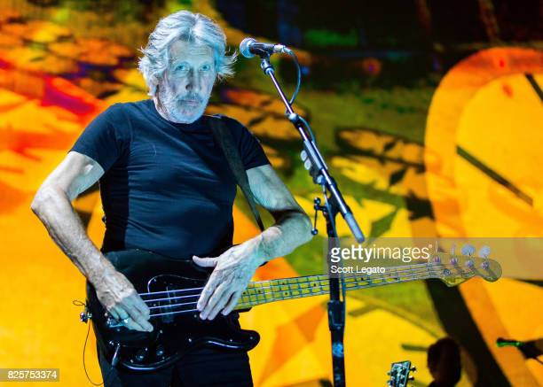 Roger Waters performs during the US THEM 2017 Tour at The Palace of Auburn Hills on August 2 2017 in Auburn Hills Michigan